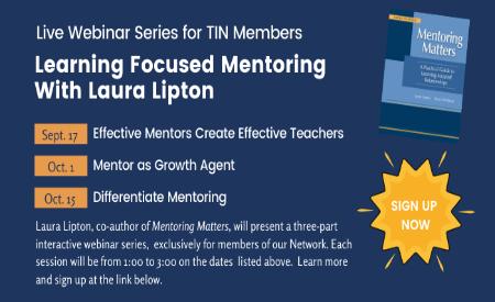 August 2020 Newsletter: Save Your Spot for Fall Mentoring Webinars
