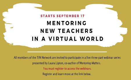 September 2020 Newsletter: Mentoring New Teachers in a Virtual World