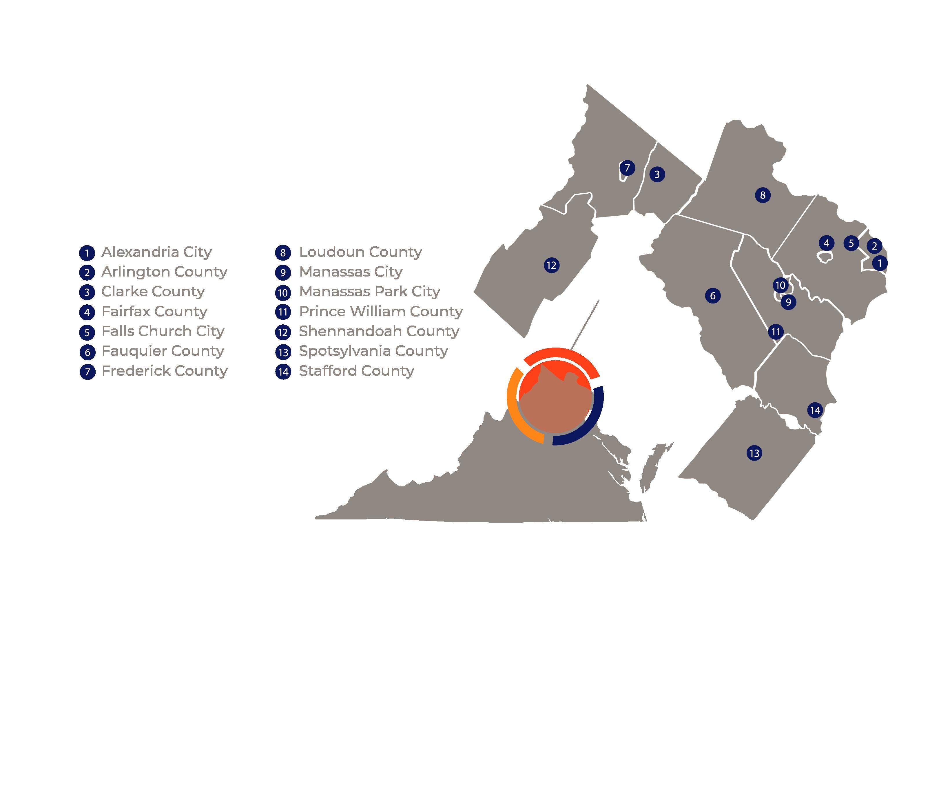 Reach Virginia map